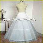 White 2 Hoop A-line Wedding Dress Petticoat Bridal Slips Petticoats Crinoline