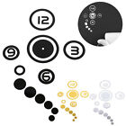 Wall Hanging Clock Sticker Decal Handmade Living Room High Grade Circle Figures