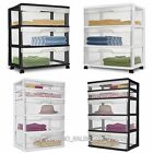 Sterilite 3 Drawer Cart Wide Cabinet Box Plastic Extra Storage Brand NEW