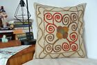 """Free Shipping From UK!Turkish Suzani Pillow Cover 100% Cotton Zippered 14"""" x 14"""""""