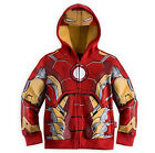 Kids Boys Superhero Cosplay Hoodie Coat Toddler Clothes Jacket Costume Outwear