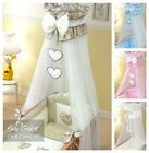 CROWN DRAPE / CHIFFON CANOPY NETTING FITS CRIB / CRADLE CHECK PATTERN