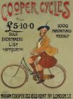 COOPER CYCLES BICYCLE CYCLIST TOUR DE FRANCE WALL ART METAL SIGN TIN PLAQUE 477