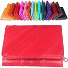 Woman Half Wallet Zipper Purse Card Bill Wallet 100%EEL Leather REW202