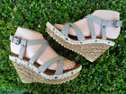 Beige Fashion Women's Wedge Sandal Sizes 8,8.5