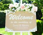 Wedding welcome sign large 60 x 40 cm STUNNING Personalised Wooden Soft Sand