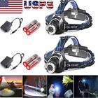 20000Lumens T6 LED Zoomable Headlamp Rechargeable 18650 Headlight Head Lamp USA