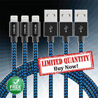 3 Pack 10 Ft Lightning Cable Heavy Duty Long Charger Charging Cord Iphone 7 6 5