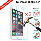 2Pcs 9H+ Tempered Glass Screen Protector Protect Cover For Apple iPhone 6S Plus
