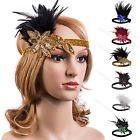 1930s 1920s Gatsby Headpiece Women's Accessories Flapper Party Feather Headband
