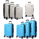 KONO Teal Hard Shell 4 Wheel Suitcase Hand Luggage Travel Trolley Case