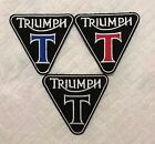 Triumph Triangular Embroidered iron on sew On patch motorcycle biker Badge N-78 €2.09 EUR on eBay