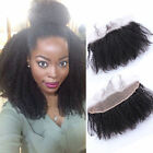 """Pre Plucked  Afro kinky Curly Virgin human hair 13*2"""" Lace Frontal Closure"""