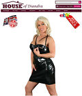 PVC Zip Bust Dress Black / Red / Pink (S1112)