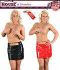 Sexy Ladies Pvc Mini Buckle Skirt in Black / Red (S1402)