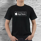 Available on App Store Apple Black T-shirt Size S-2XL