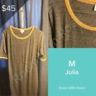 LuLaRoe M Julia - Grey with Mustard Accents