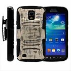 For Samsung Galaxy S4 Active I9295 Rugged Hybrid Holster Belt Clip Case Armor