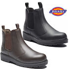 MENS DICKIES DEALER SLIP ON STEEL TOE CAP SAFETY CHELSEA WORK BOOTS SIZE SHOES