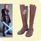 Hot! Star Wars Jedi Warrior Oubi Wang boots shoes costom made brown AA.25 $54.99 USD