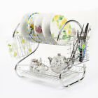 Kitchen Dish Cup Drying Rack Drainer Dryer Tray Cutlery Holder Organizer-HOT