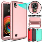 Shockproof Hybrid Rugged Rubber Matte Phone Case Cover For LG X Power K220 LS755
