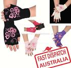 Ladies Women Stretch Knit Half Finger Smart Phone Touch Screen Texting Gloves