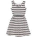 BNWT New Popupshop Maritime Striped Tank Dress Girls Black White
