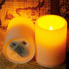 2/8/10pcs NEW Indoor Flameless Resin Pillar LED Candle with 4&8 Hour Timer