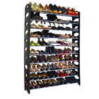 10-Tier Shoe Rack For 50 Pair Wall Bench Shelf Closet Organizer Storage Box-HOT