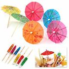 Colorful Mixed Paper Cocktail Drink Umbrellas Parasols Picks Party Drinks 12/24
