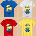 Kids Baby Boys Girls Minion Top Clothes Clothing Outfits short Sleeve T-Shirt