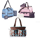 Baby Essentials 4 in 1 Duffel Diaper Bag, Nap Changing Tote Handbag Boys or Girl