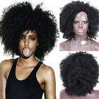 "8A Afro Kinky Curly Brazilian Remy Human Hair 10""-14"" Lace Front /Full Lace Wigs"