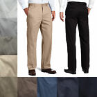 IZOD Men's American Chino Flat Front Straight Fit Cotton Pants Bottoms 28-42