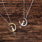 Moon And Cute Cat Pendant With Chain Jewelry Women Necklace Charms Choker Animal