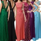 Formal Ball Evening Party Dress Backless Gown Bridesmaid Wedding Long Prom maxi