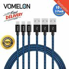 3 Piece 10ft Apple Certified Lightning Cable Charger Sync for iPhone 7 6 6s Plus