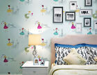 ballet wallpapers - Ballet-Girl-Children-room-3D-wallpaper-Modern-Flocking-non-woven-bed/TV wall