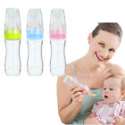 USA Baby Silicone Squeeze Feeding Bottle With Spoon Food Rice Cereal Feeder