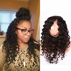 New Peruvian Deep Wave Virgin Human Hair Pre Plucked 360 Lace Frontal Closure