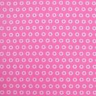 Hot Pink - Mono Marguerite - Cotton Fabric Modern French Geometrics Patchwork 16