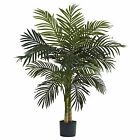 GOLDEN CANE PALM TREE/NEW ARTIFICIAL SILK FAUX PLANT W/POT-NEW-4 SIZES LOW PRICE