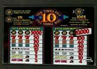 IGT S+ Plus Slant Top Slot Machine Glass 10 TEN TIMES PAY