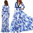 Usa Women Boho Floral Long Maxi Dresses Cocktail Evening Party Beach Sundress