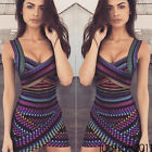 Us Women Summer Casual Sleeveless Evening Party Beach Dress Short Mini Dress