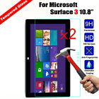2Pcs HD Tempered Glass Screen Protector For Microsoft Surface Pro3 /Pro 4/Pro 5