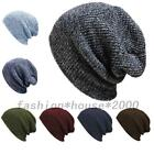 Slouchy Large Hand Knit Unisex Hip Hop Women Men Beanie Ski Baggy Hat Winter Cap