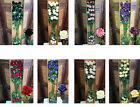 JOB LOT QUALITY ARTIFICIAL VELVET SILK ROSES 24 STEMS A BOX LUXURY 8 COuLOR