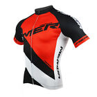 Merida Reflective Cycling Jersey Men's Bike Bicycle Cycle MTB Shirts Red / Blue